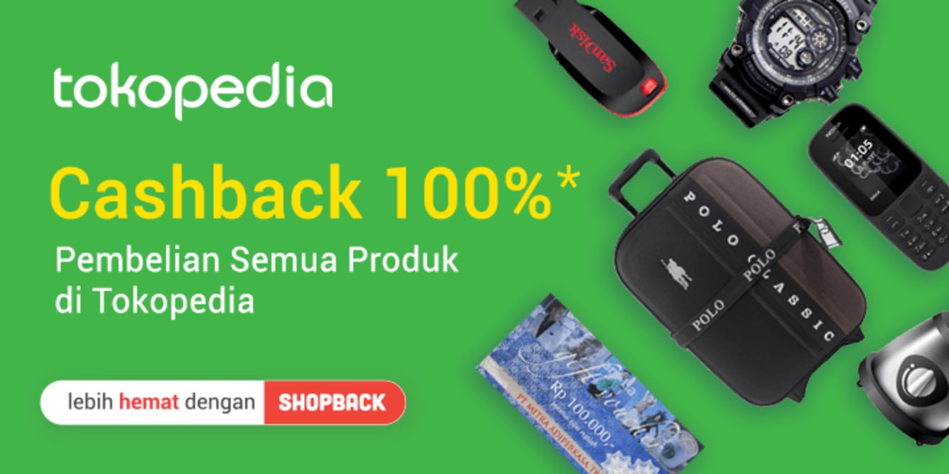 Week 21- Promo Tokopedia 100%