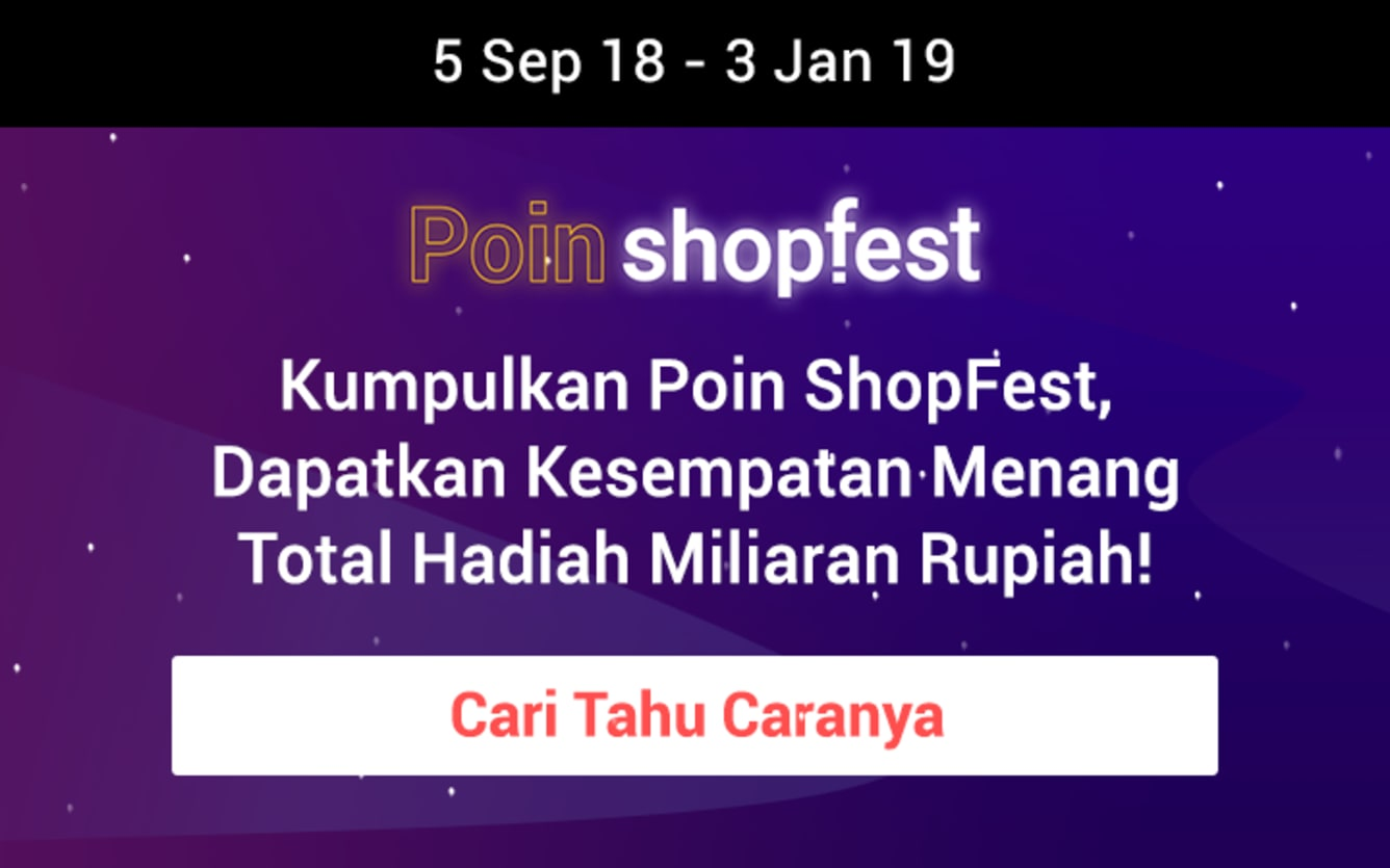 Week 41 - Hasil Poin ShopFest