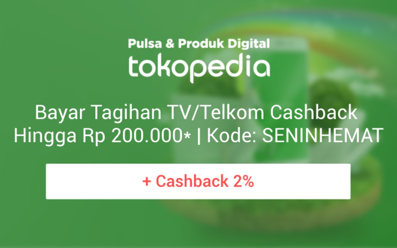 Week 50 - Promo Pulsa Tokopedia