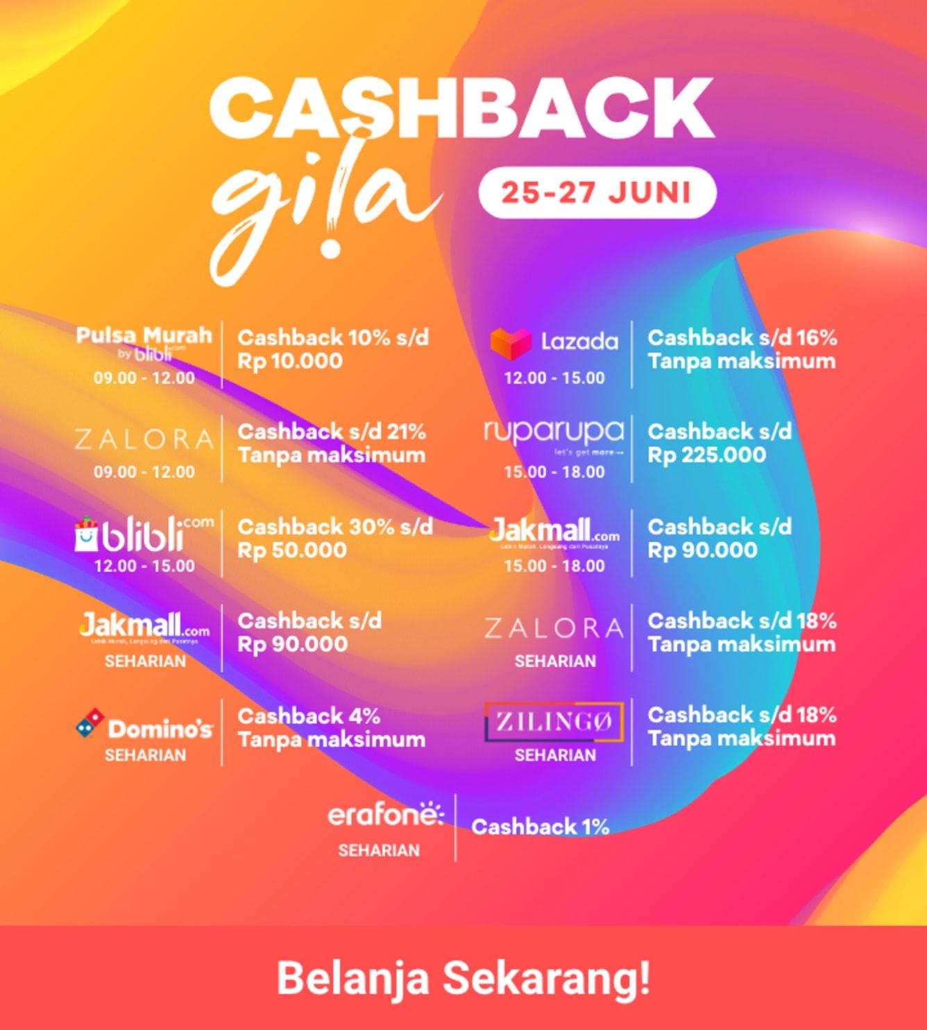 Week 26 - Schedule Cashback Gila