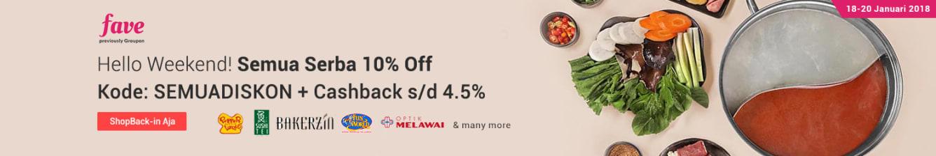 Week 3 - Fave Semua Diskon 10% Off