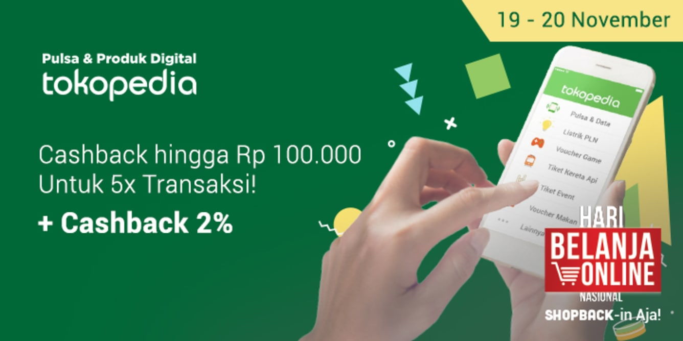 Pulsa Murah Tokopedia Cashback 20%