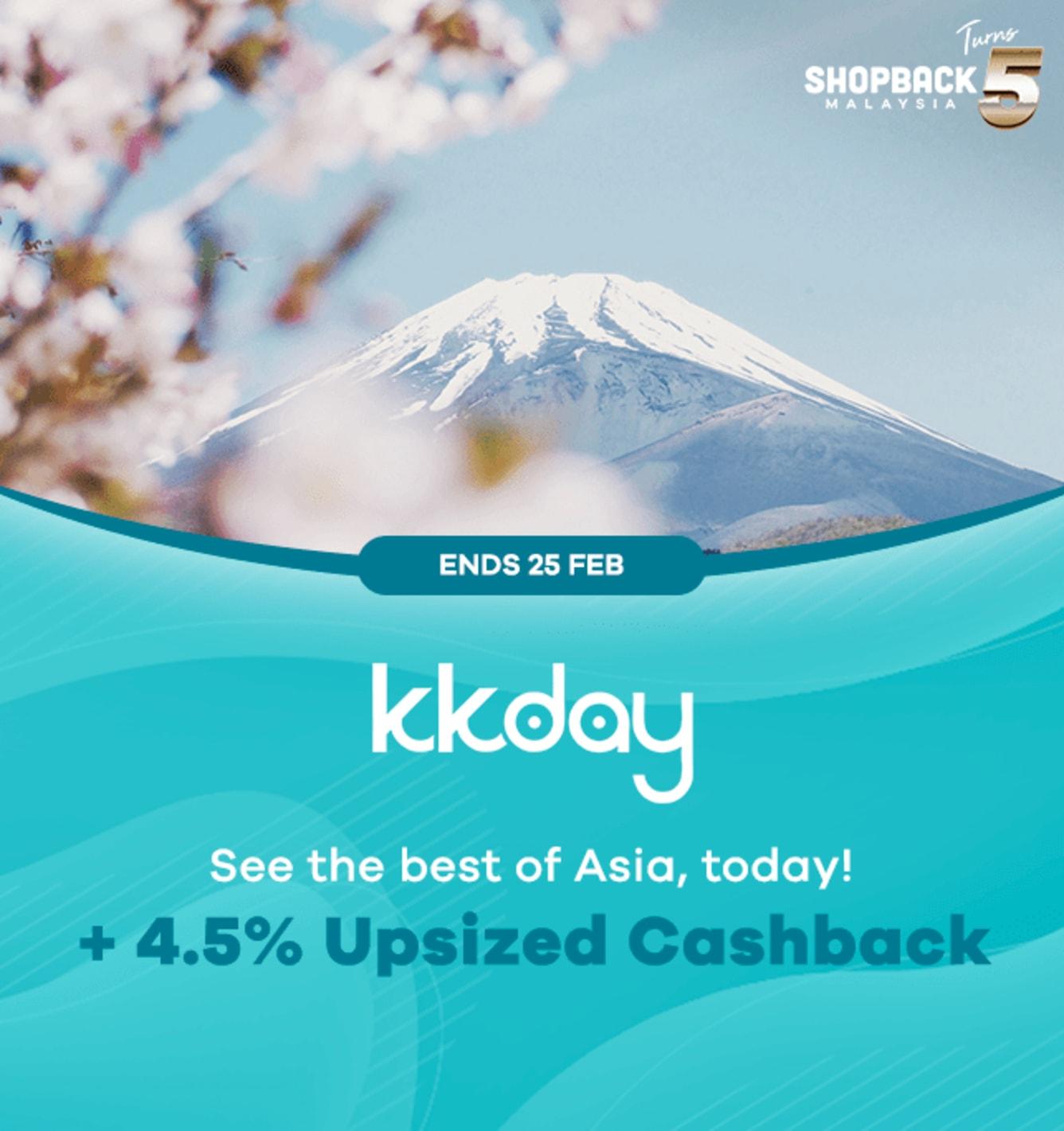 KKDay 4.5% Upsized Cashback