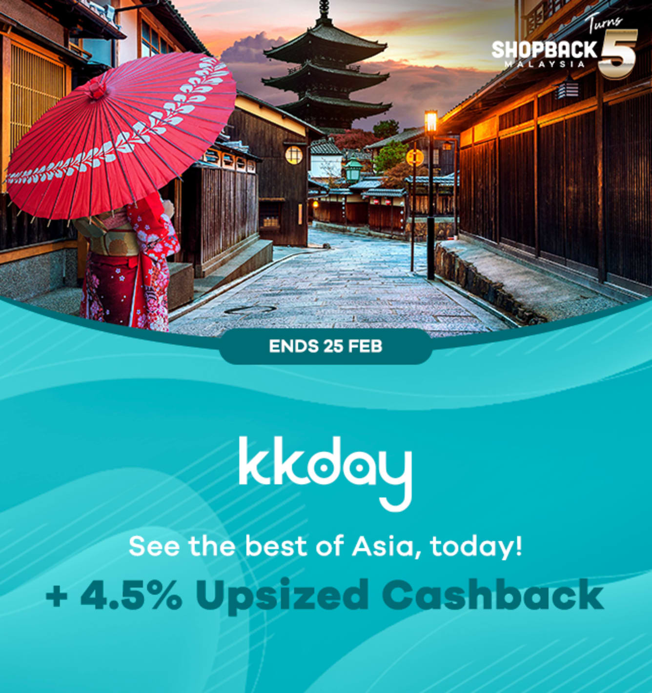 KKDay 4.5% Upsized Cashback