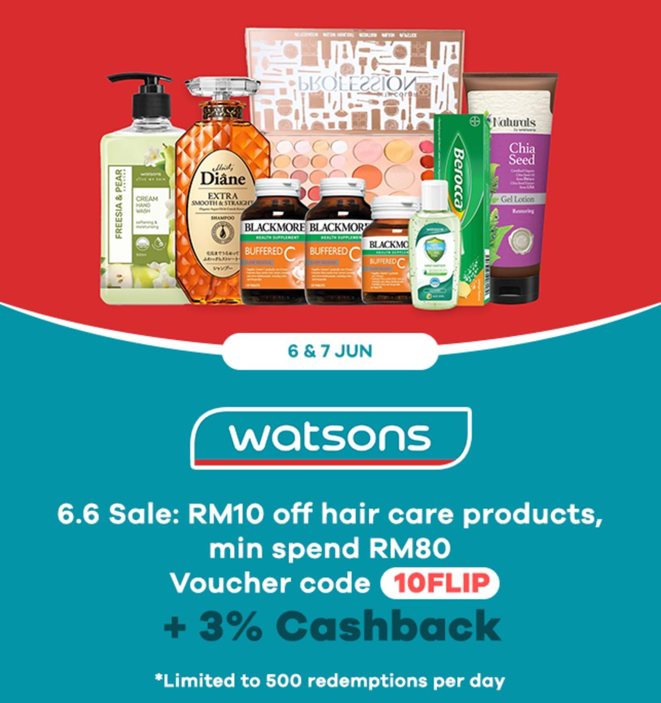 Watsons Weekly Upsized Cashback
