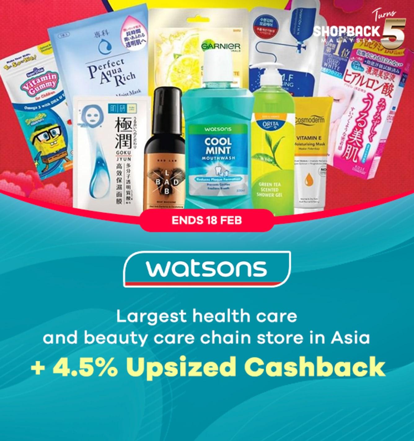 Watsons Upsized Cashback