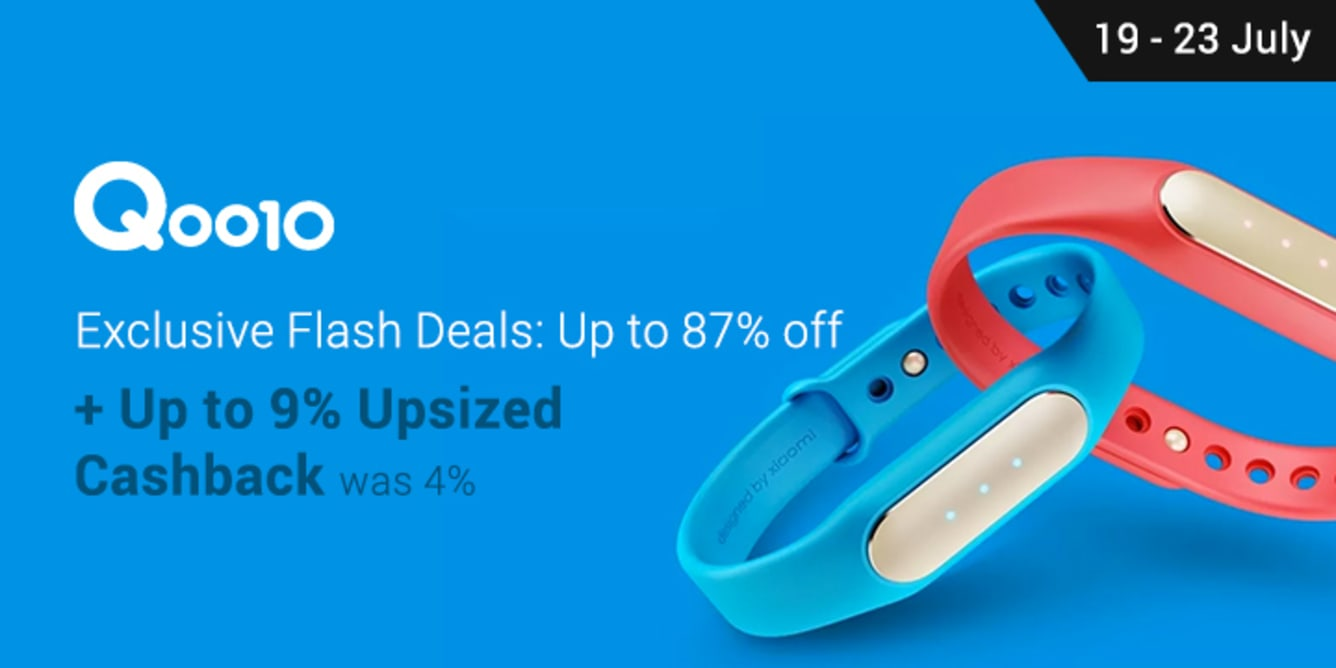 Qoo10 9% Upsized Cashback 19 July 2017