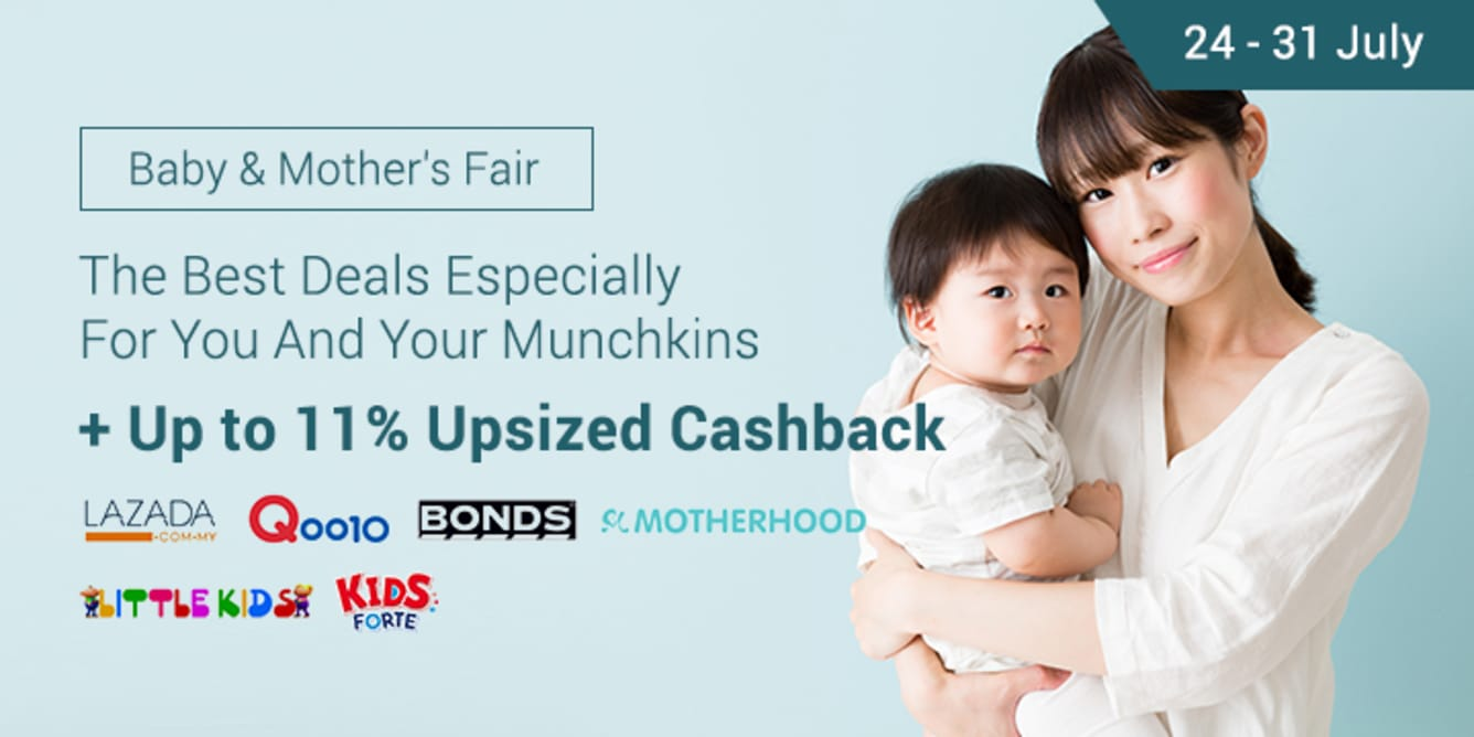 Shopback Baby & Mother's Fair Up To 11% Cashback Lazada