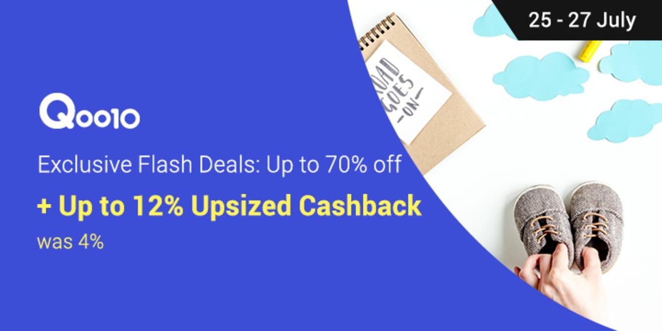 Qoo10 12% Upsized Cashback 25-27 July 2017