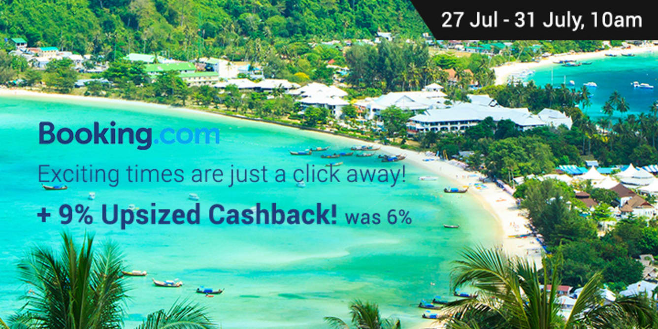 Booking.com: Get the best hotel deals at 9% Upsized Cashback