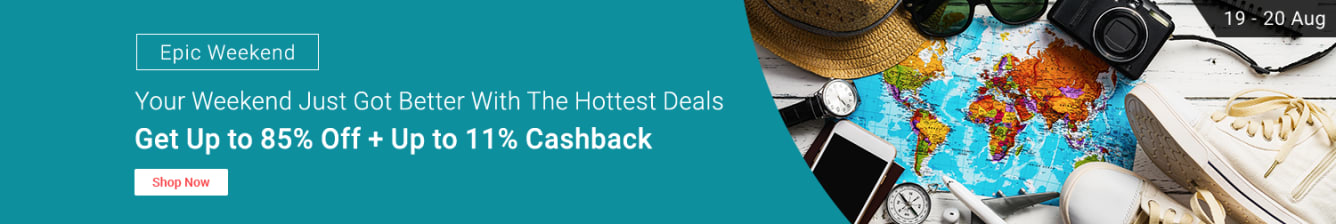 Up to 85% off + up to 11% cashback weekend sale