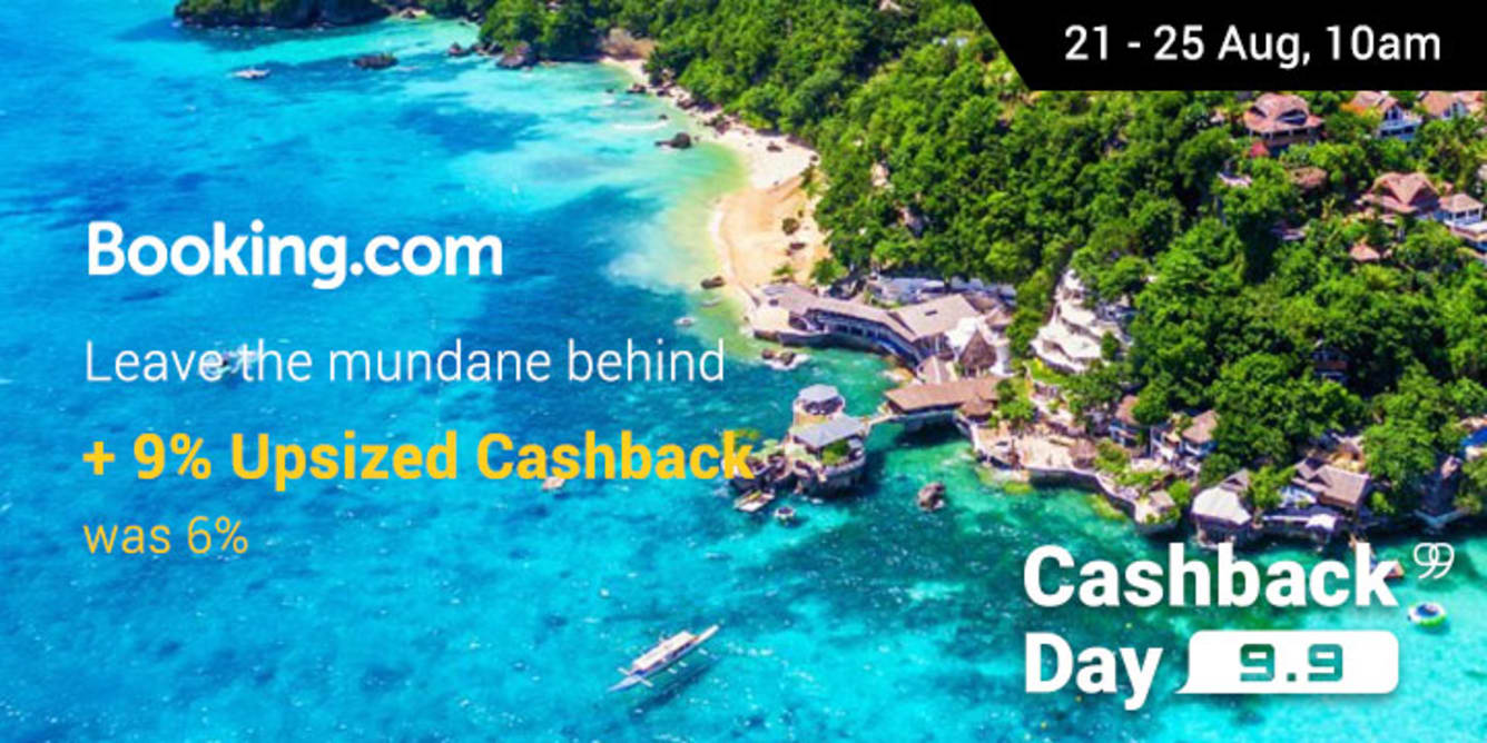 Booking.com 9% upsized cashback was 6%
