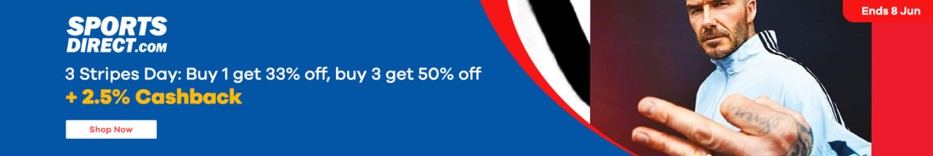 Sports Direct 3.5% Upsized Cashback 70% Off