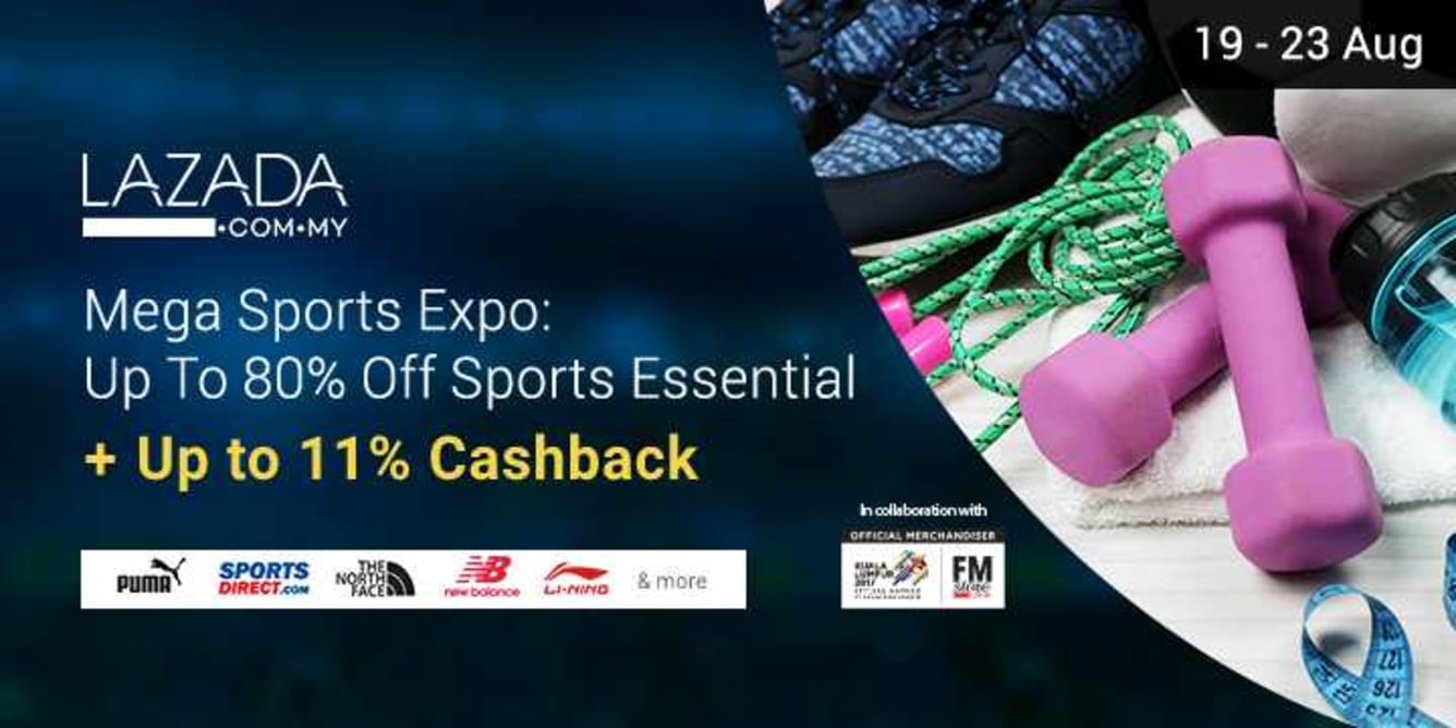 Lazada Mega Sports Expo 19 - 23 Aug 2017