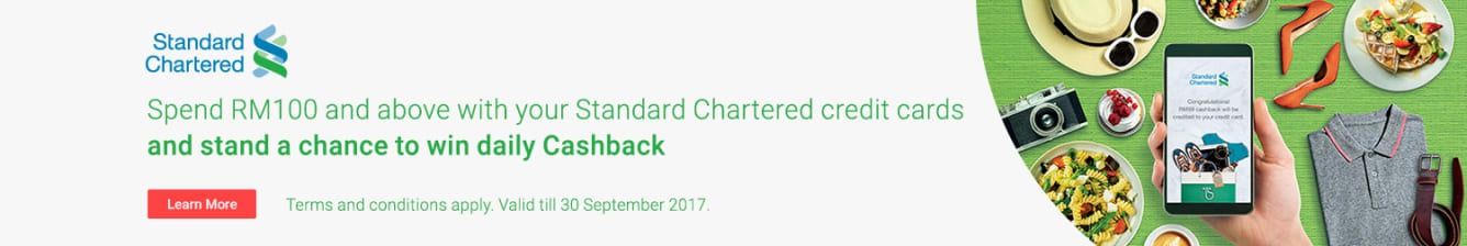Standard Chartered Shake & Win Campaign Aug - Sep 2017