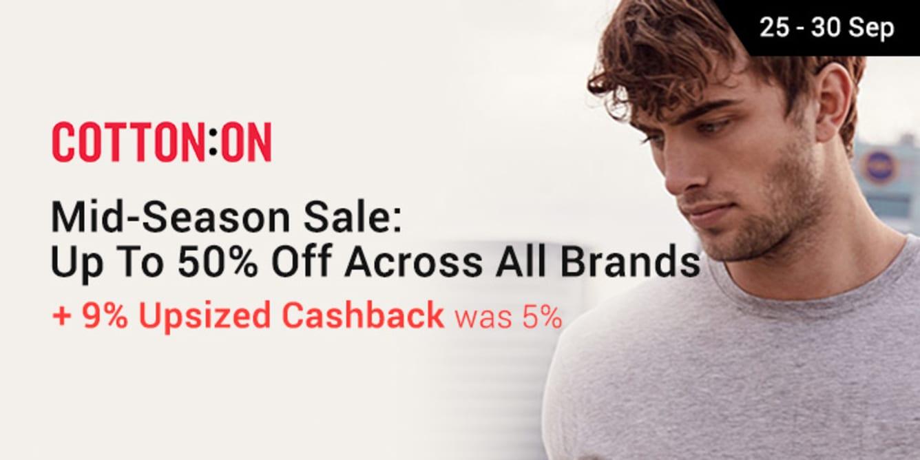 Cotton On Mid-Season Sale Shopback