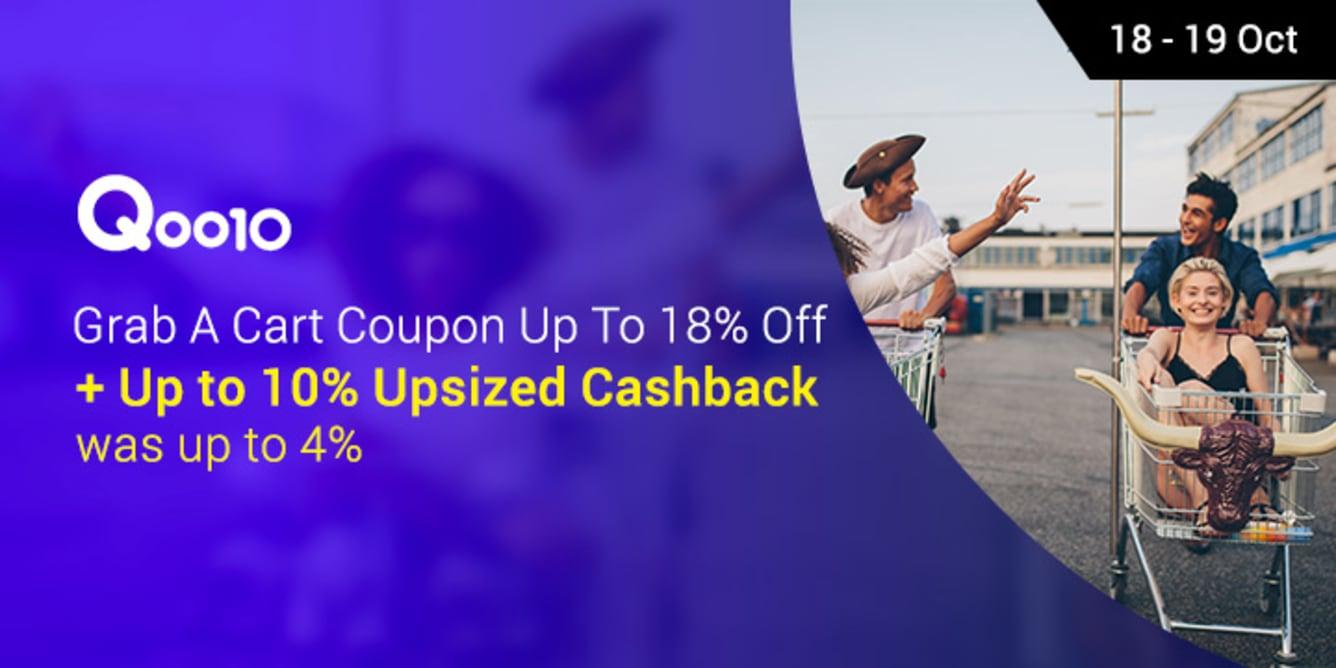Qoo10 Cart Coupon 18% 16% | ShopBack