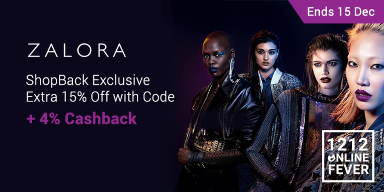 Zalora 12.12 Voucher 12 - 15 Dec 2017