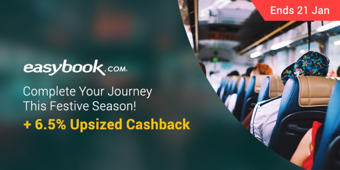 Easybook 6.5% Cahback . ShopBack