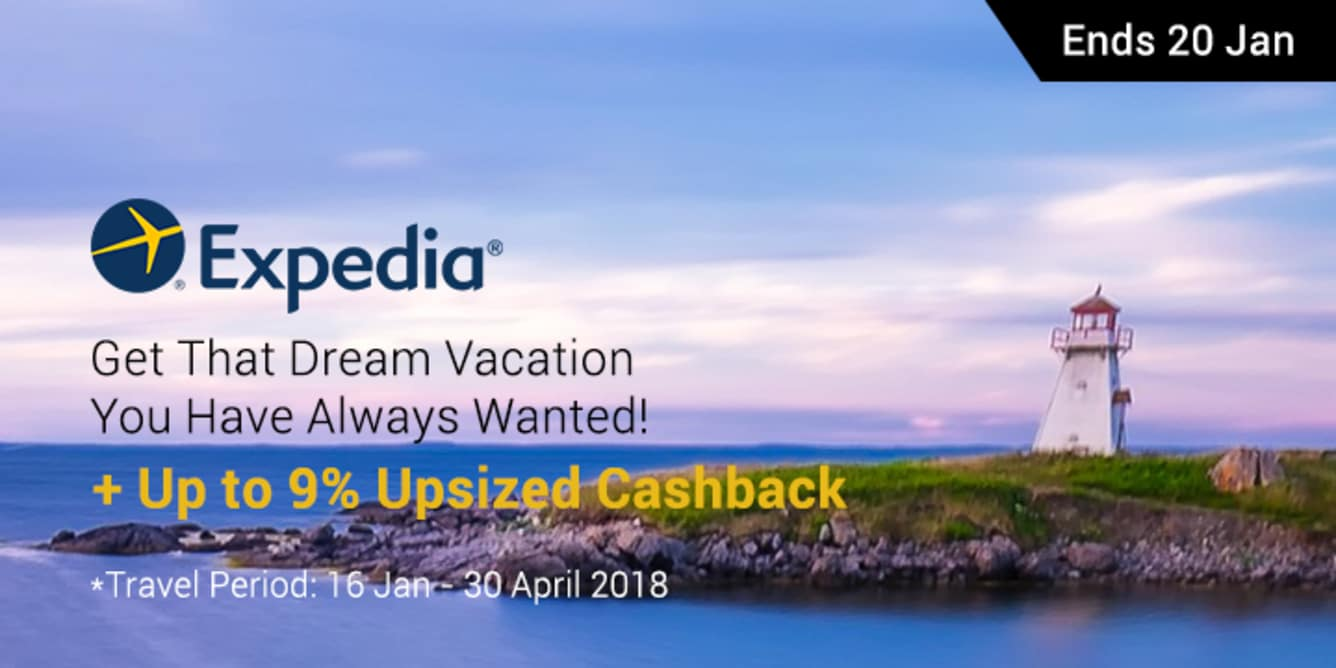 Expedia Up To 9% Cashback - ShopBack