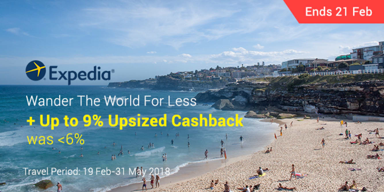 Expedia Up To 9% Upsized Cashback - ShopBack