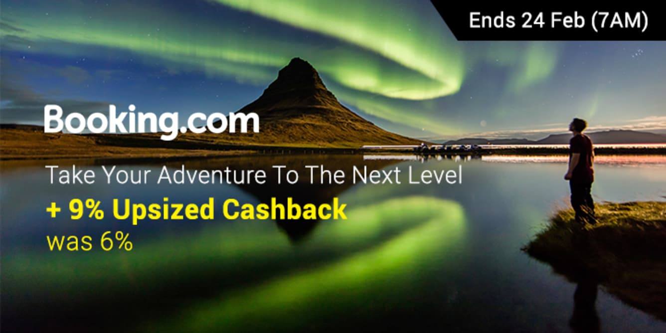 Booking.com 9% Upsized Cashback - ShopBack