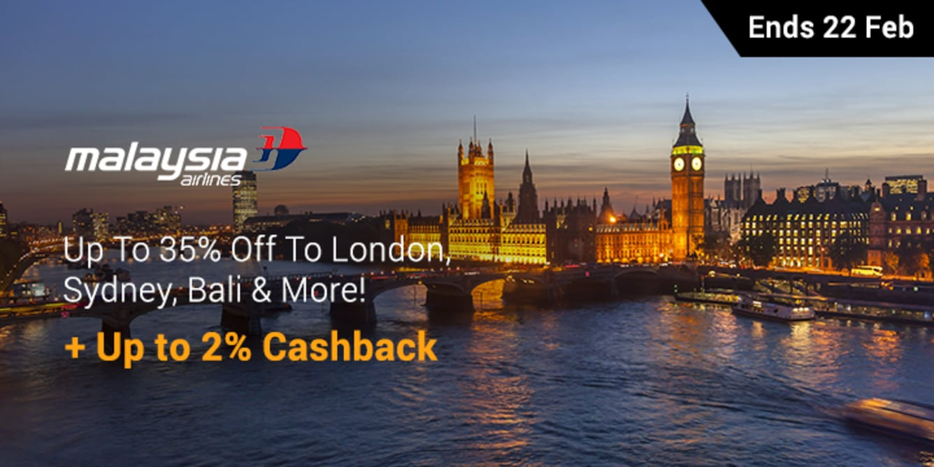 Malaysia Airlines Flash Sale - 20 Feb - 21 Feb - ShopBack