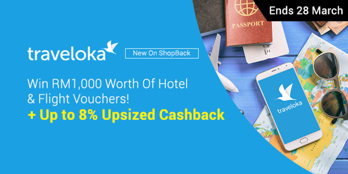 Traveloka Win RM1,000 Worth Of Hotel & Flight Vouchers - Traveloka Launch March 2018 - ShopBack