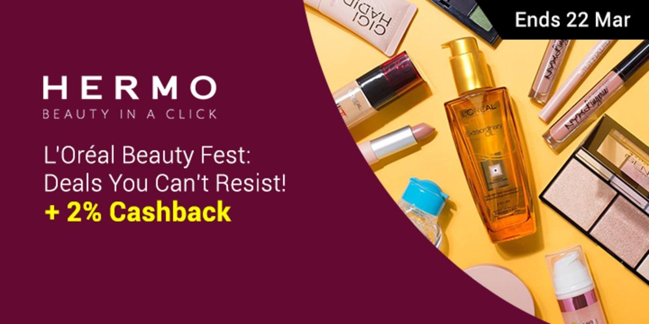 Hermo Loreal Beauty Fest .- ShopBack