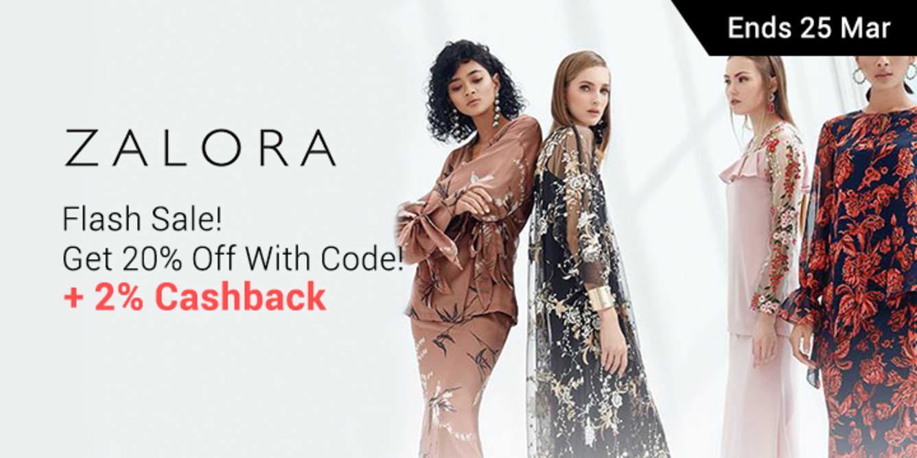 ZALORA Flash Sale 20% Off With Code - ShopBack