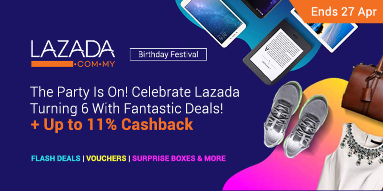 Lazada Birthday April 2018 - ShopBack