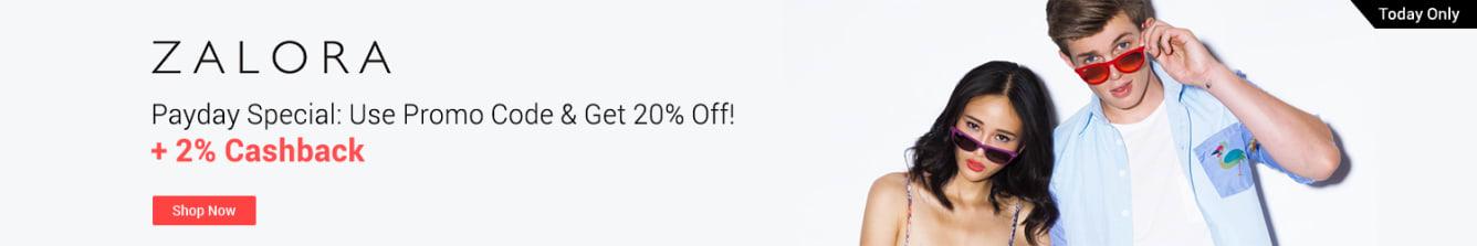 ZALORA Payday April 2018 20% Off - ShopBack