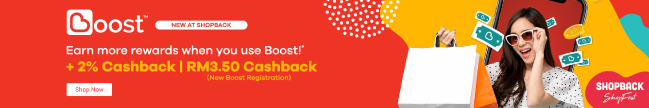 Boost Launch + 2% Cashback