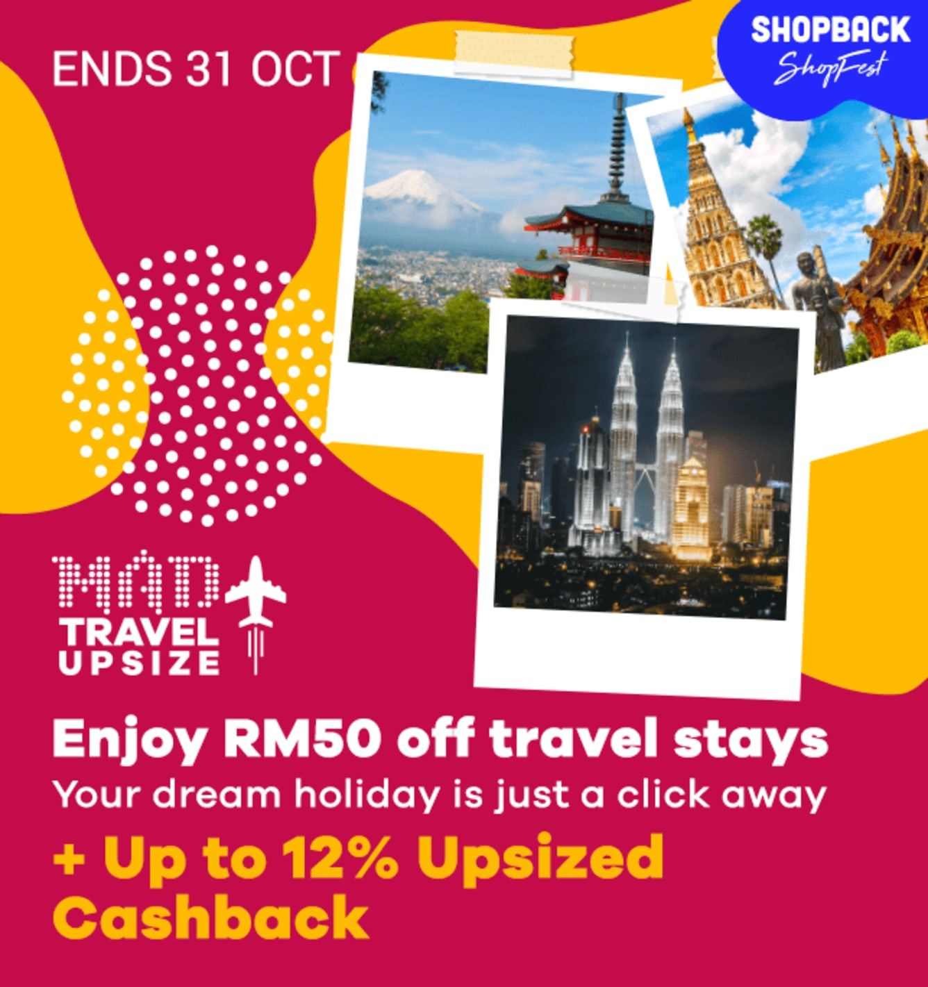 Travel Fair Up to 12% Upsized Cashback