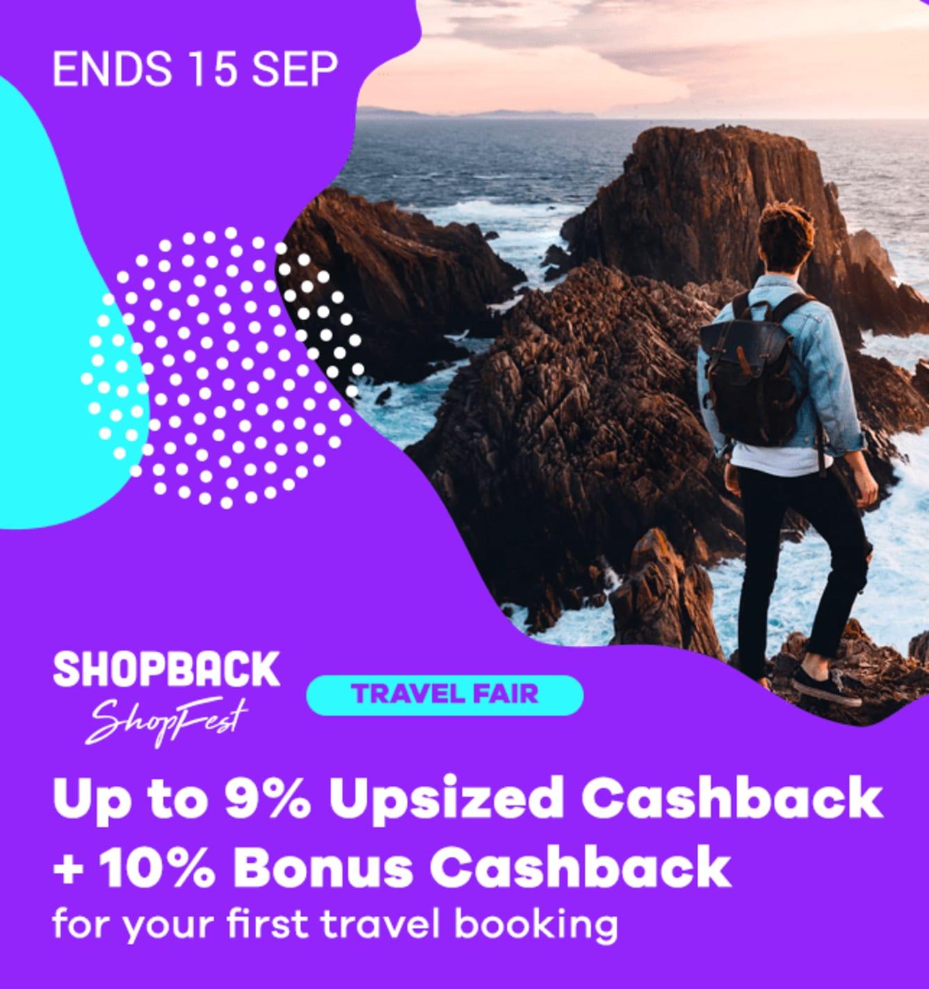 Travel Fair Up to 9% Upsized Cashback