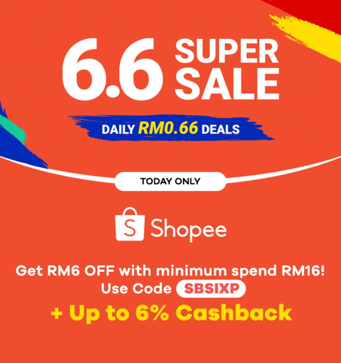 Raya Bersama Shopee up to 6% Cashback