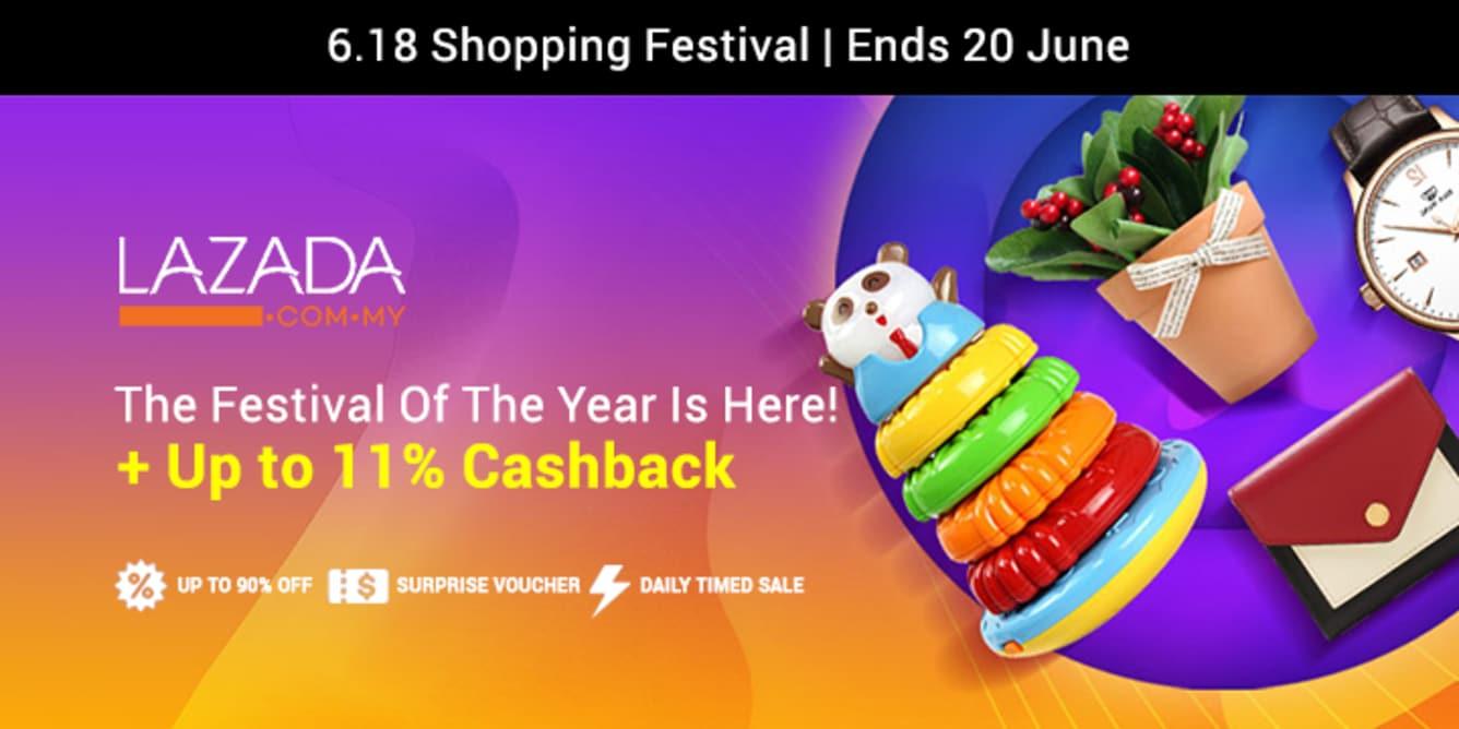 Lazada 618 Shopping Festival ShopBack