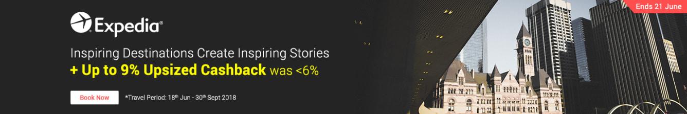 Expedia Up To 9.0% Upsized Cashback - ShopBack