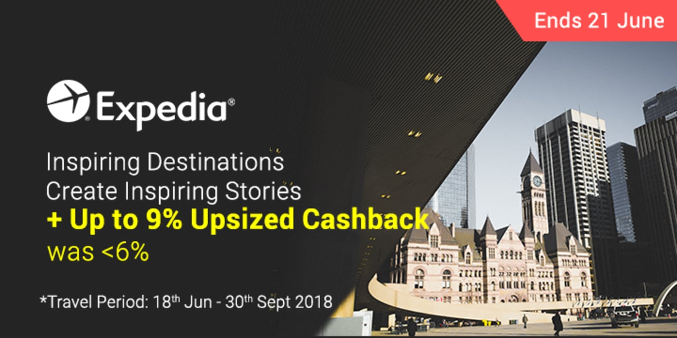 Expedia Up To 9.0% Upsized Cashback - ShopBack