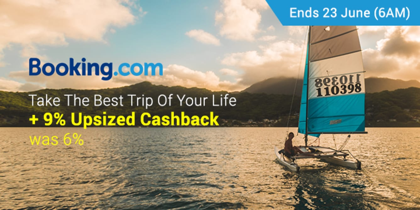 Booking.com 9% Upsized Cashback June - ShopBack