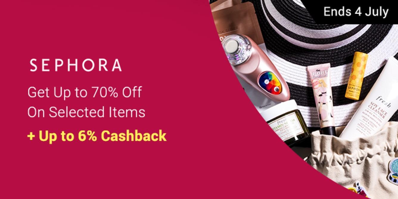 Sephora Up to 70% Off Get Up to 6% Cashback ShopBack
