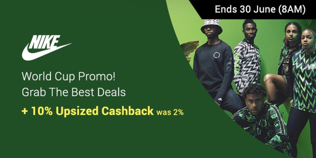Nike 10% Upsized Cashback 20 - 30 June 2018 ShopBack Cashback