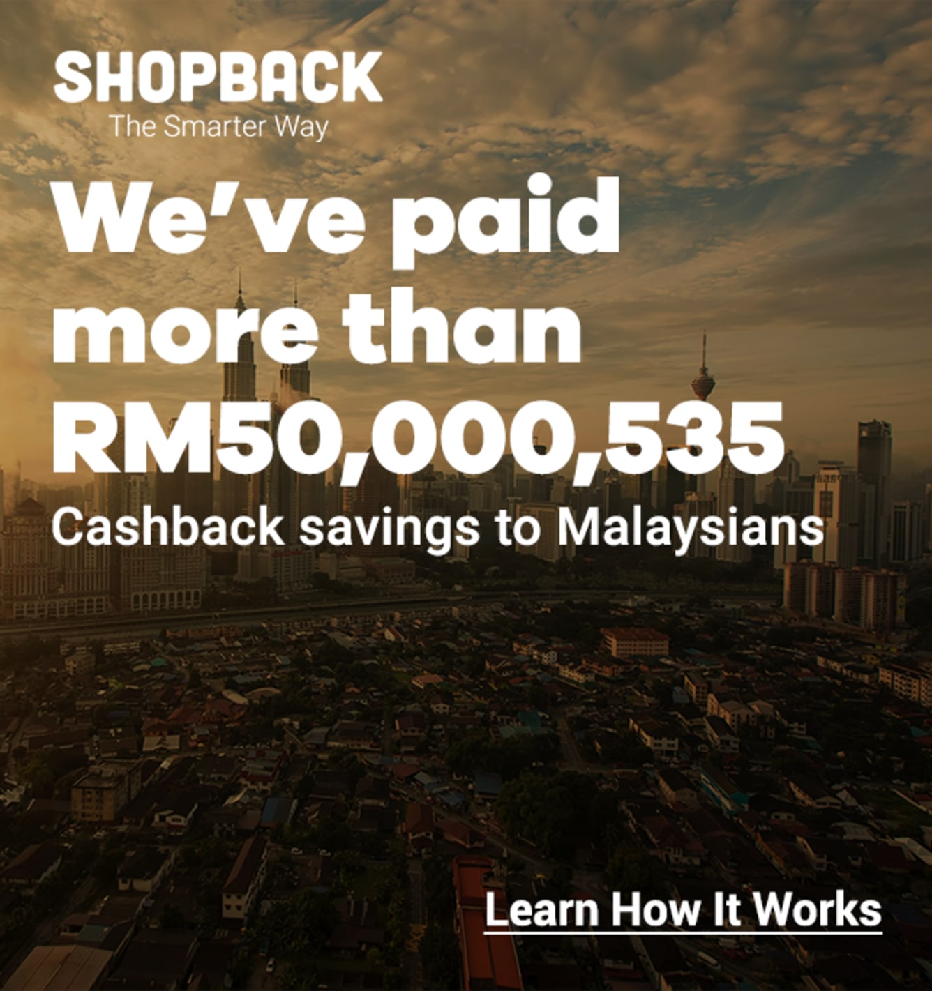 ShopBack Sign up banner