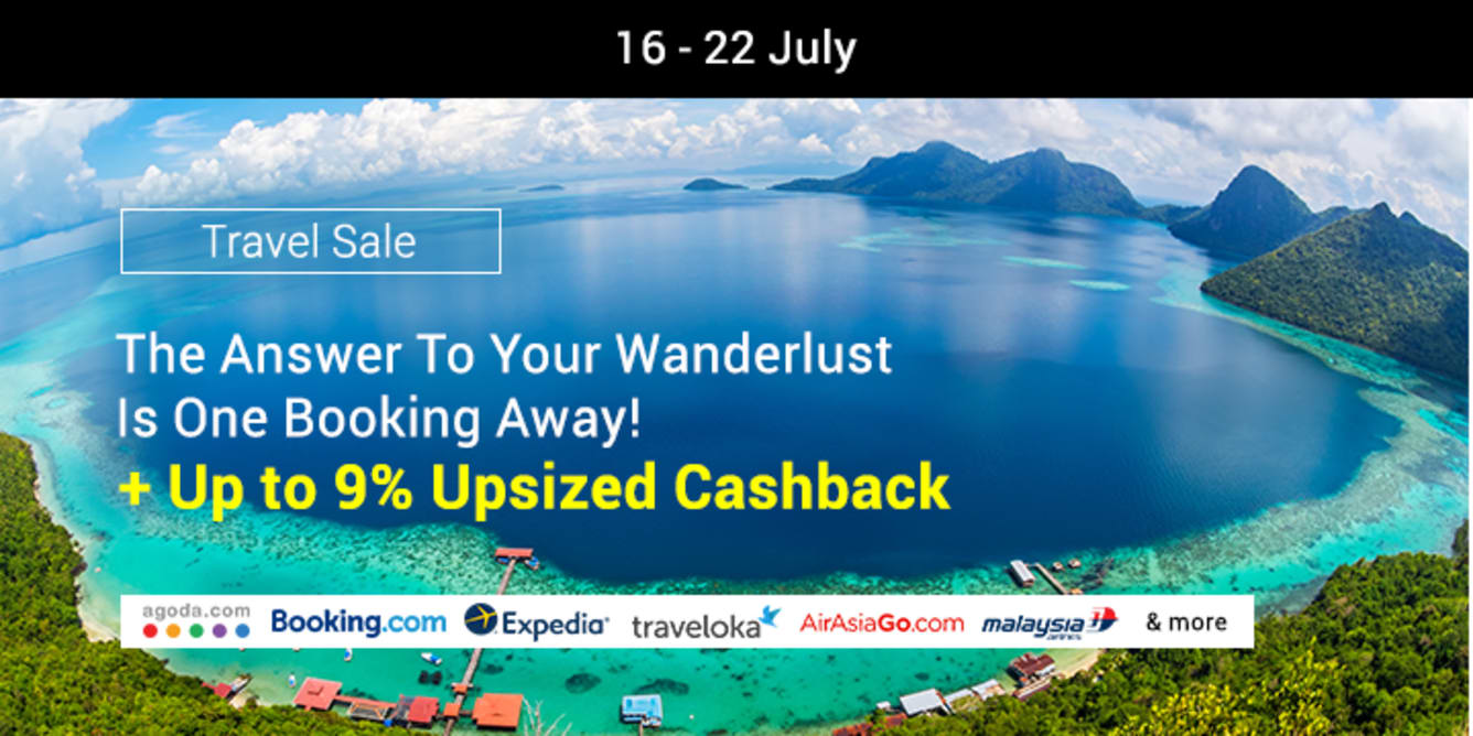 Travel Sale July 2018 ShopBack Cashback