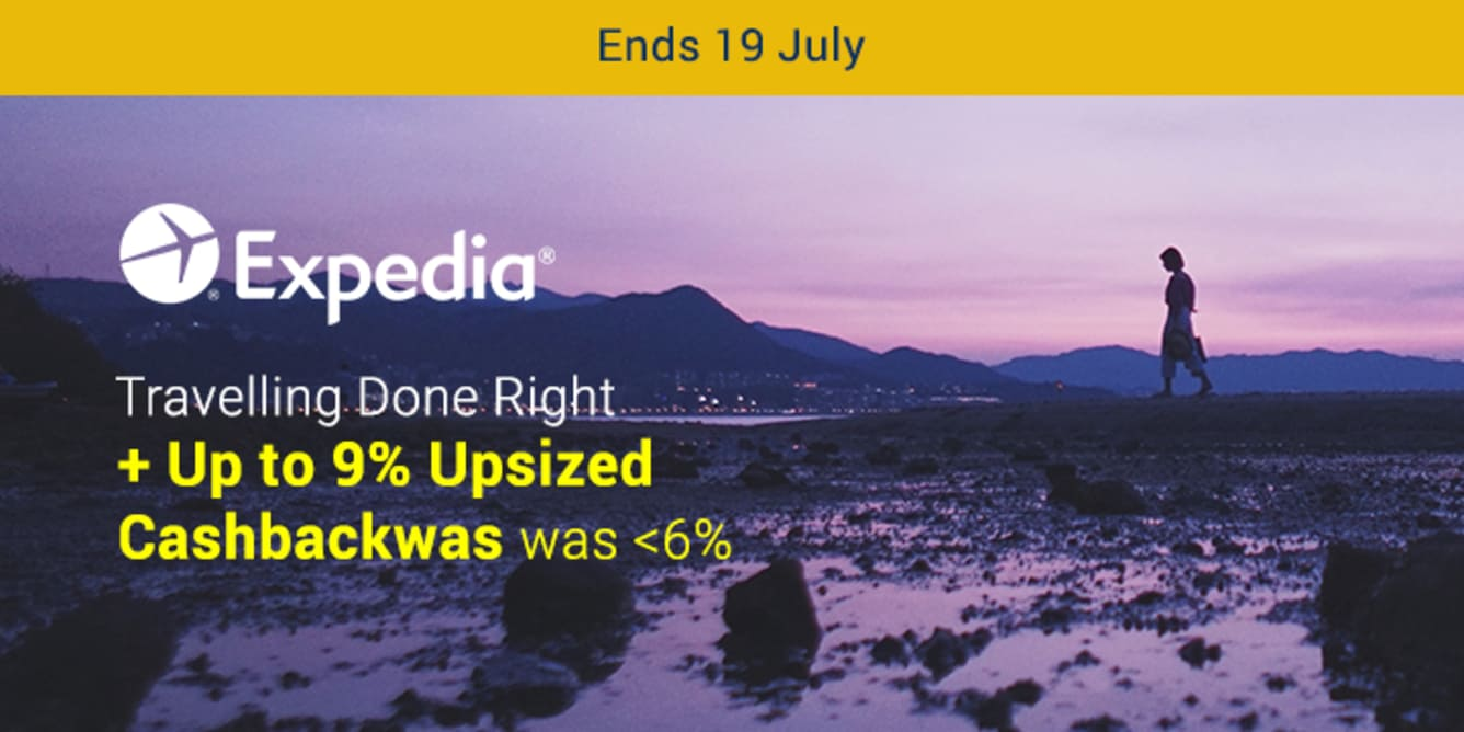 Expedia Up to 9% Upsized Cashback July 2018 ShopBack