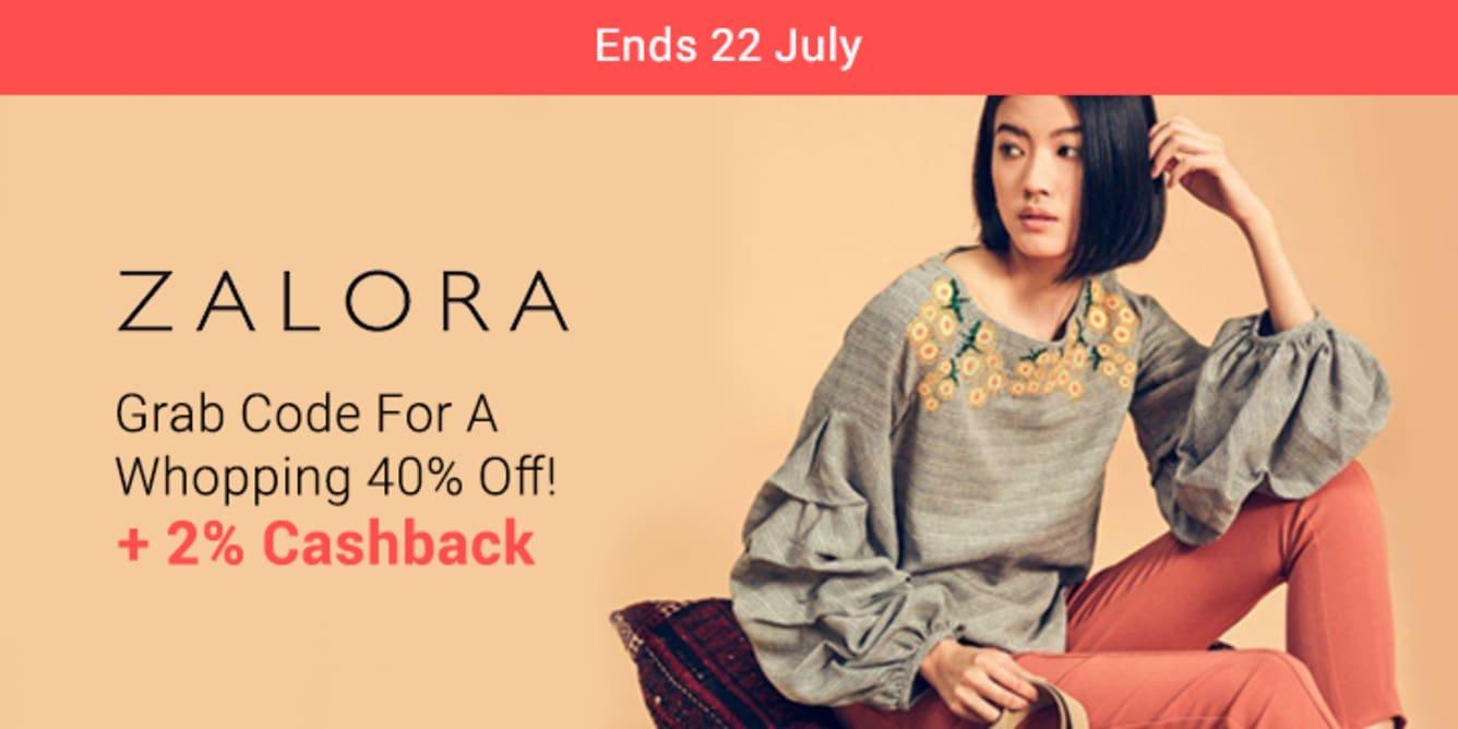 ZALORA Fashion Fever Week 40% Off Code July 2018 ShopBack
