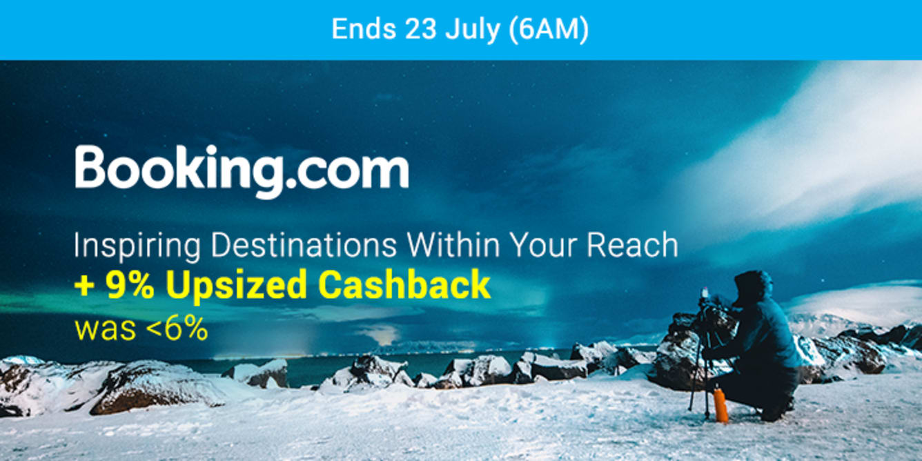 Booking.com 9% Upsized Cashback July 2018 ShopBack Cashback