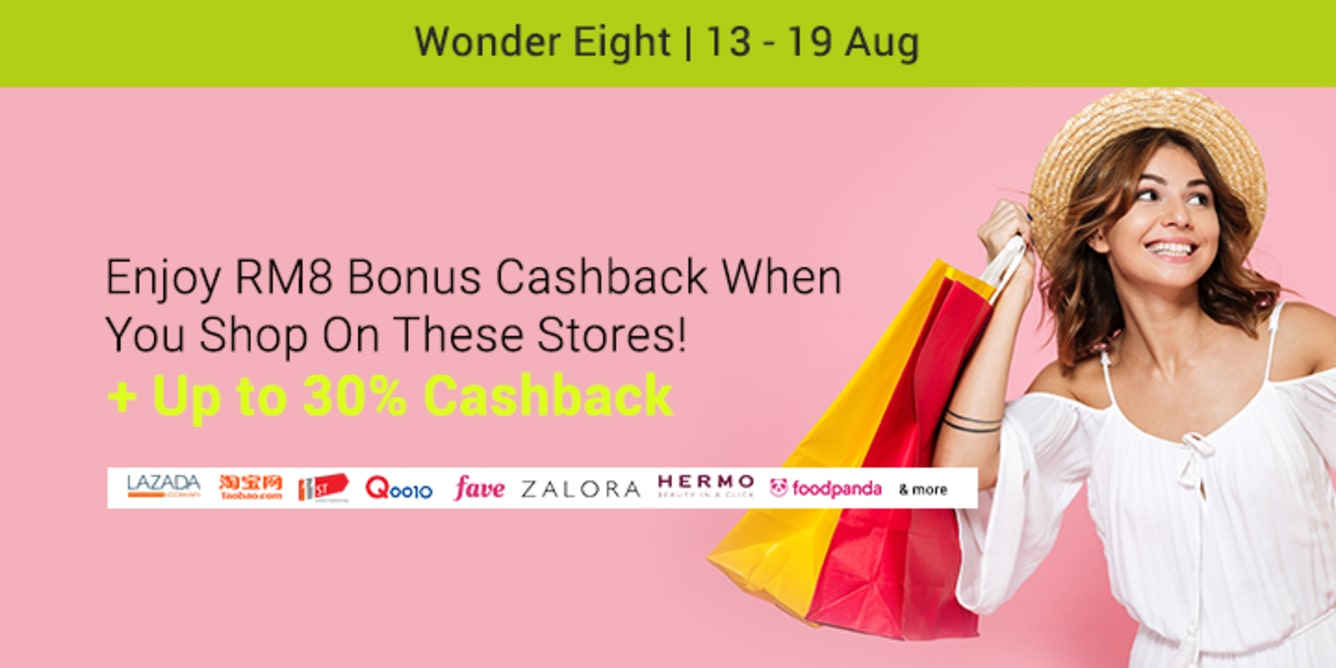 Earn RM8 Bonus Cashback ShopBack Cashback