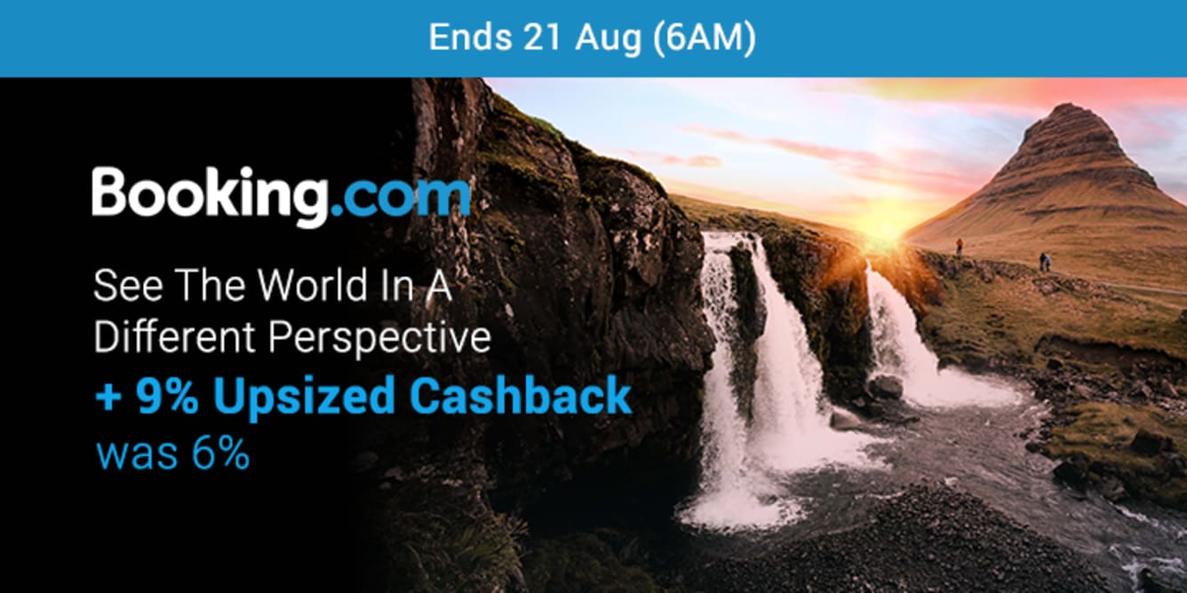 Booking.com 9% Upsized Cashback August 2018- ShopBack Cashback