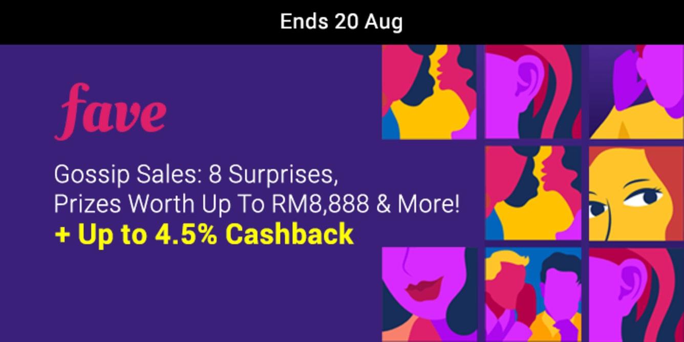 Fave Gossip Sale 8.18 ShopBack Cashback